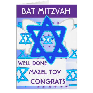 BAT MITZVAH card