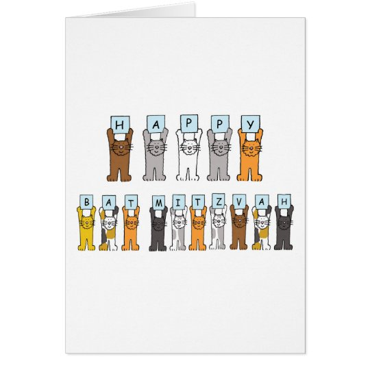 Bat Mitzvah Cats Card