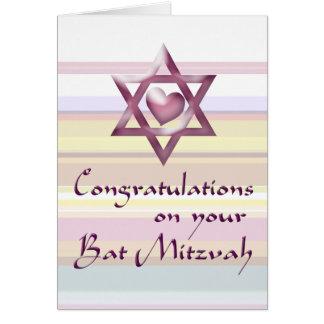 Bat Mitzvah Congratulations Greeting Cards