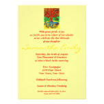 Bat Mitzvah:Hearts Grow Into Butterflies Tree Life Personalised Invites