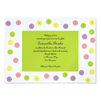 Bat Mitzvah Invitation Samantha Brooke Hebrew