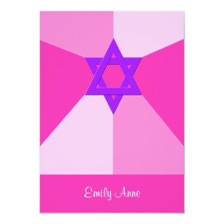 Bat Mitzvah Invitation Shades of Pink Invite