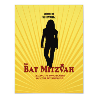 Bat Mitzvah Movie Star Reply Card Personalized Announcements