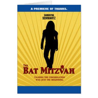 Bat Mitzvah Movie Star  Thank You Card