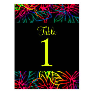Bat Mitzvah Neon Butterfly Collage Post Cards