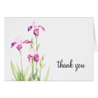 Bat Mitzvah Pink Iris Note Card