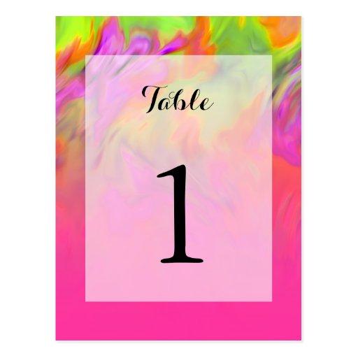 Bat Mitzvah Pink Tye Dye Post Card