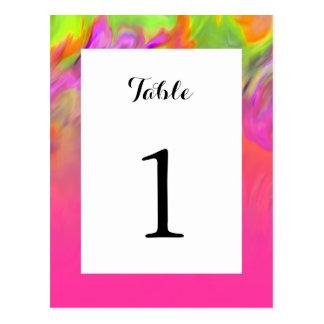 Bat Mitzvah Pink Tye Dye Postcard