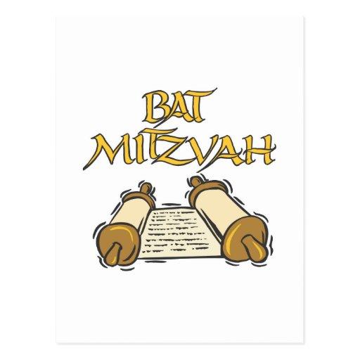 Bat Mitzvah Postcard