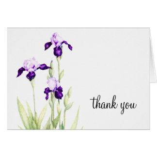 Bat Mitzvah Purple Iris Note Card