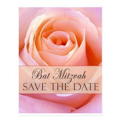 Bat Mitzvah Save the Date Post Card