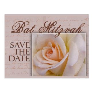 Bat Mitzvah Save The Date Postcard