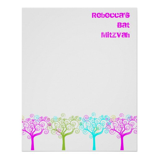 Bat Mitzvah Sign In Board Posters