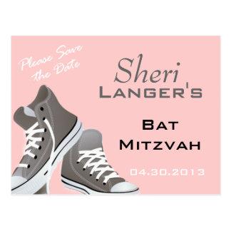 Bat Mitzvah Sneakers Postcard