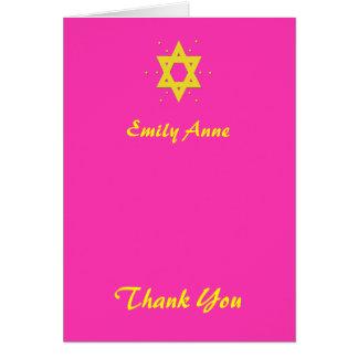 Bat Mitzvah Thank You Card