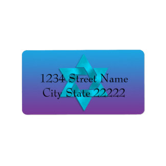 Bat Mitzvah Turquoise to Purple Ombre with Star Label
