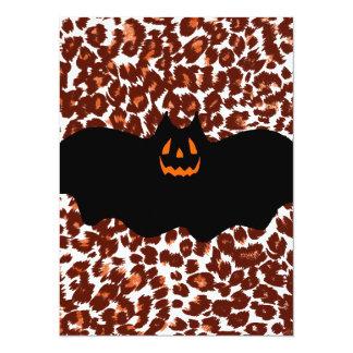 Bat On Leopard Spot Background Card