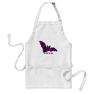 BAT OUT OF HELL WITH PURPLE FLAMES AND LIGHTNING APRONS