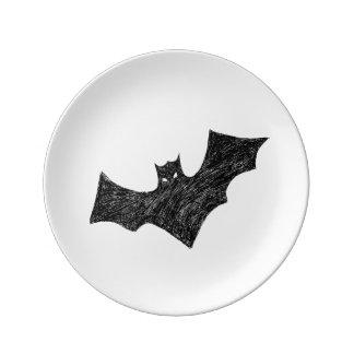 Bat Plate Porcelain Plate