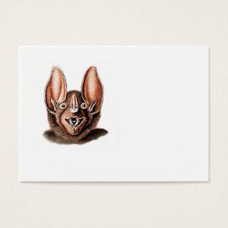 Bat Portrait Retro in Orange Business Card