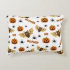 Bat, pumpkin and spider pattern decorative cushion