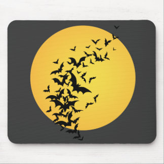 Bat Silhouettes On the Moon Mouse Pad