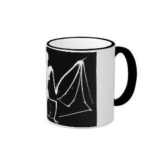 Bat skeleton ringer mug