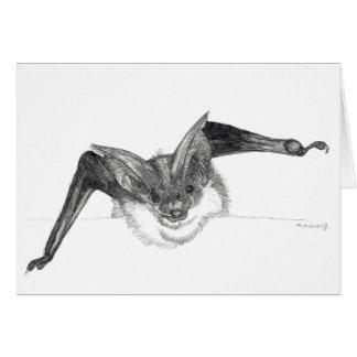 Bat sketch greeting card by Nicole Janes