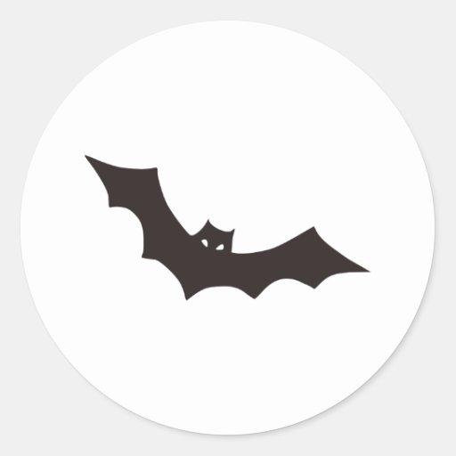 Bat Round Sticker