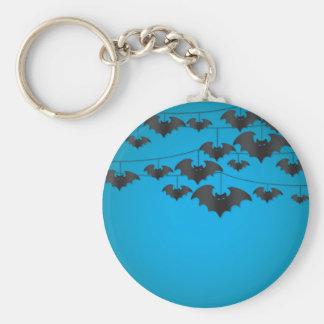Bat string basic round button key ring