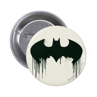 Bat Symbol - Batman Logo Spraypaint Pinback Buttons