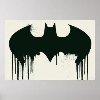 Bat Symbol - Batman Logo Spraypaint Posters