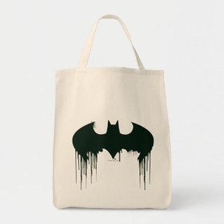 Bat Symbol - Batman Logo Spraypaint Grocery Tote Bag