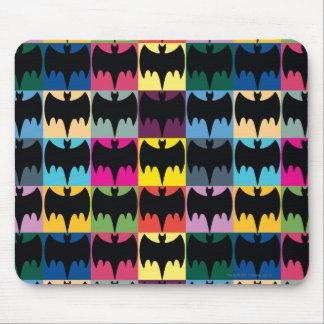 Bat Symbol Grid Pattern Mouse Pad