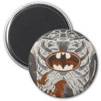 Bat Symbol Ribcage Vintage Collage Magnets