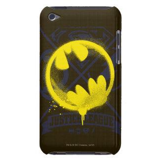 Bat Symbol Tagged Over Justice League iPod Case-Mate Case