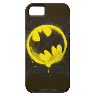 Bat Symbol Tagged Over Justice League iPhone 5 Cover