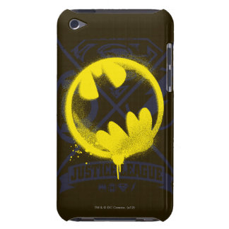 Bat Symbol Tagged Over Justice League iPod Case-Mate Case