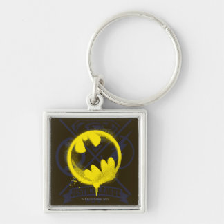 Bat Symbol Tagged Over Justice League Key Chains