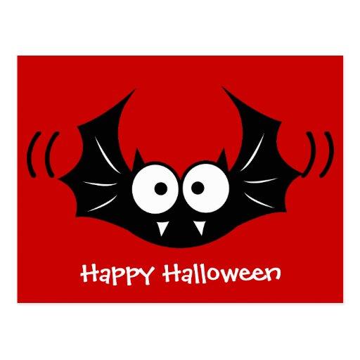 Bat vampire postcard