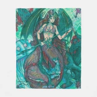 Bat Winged Mermaid Fleece Blanket