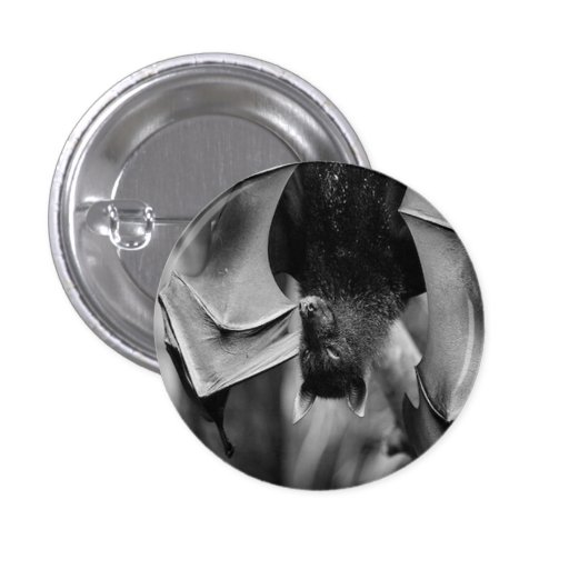 Bat Wings Goth button pin