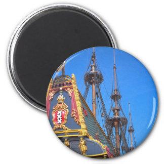 Batavia - Dutch East Indies ship 6 Cm Round Magnet