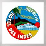 Batavia Hotel Des Indies Poster