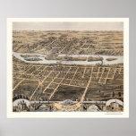 Batavia, IL Panoramic Map - 1869 Poster