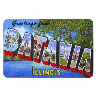 Batavia Illinois IL Large Letter Postcard Magnet
