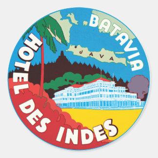 BataviaHotelJava Round Sticker
