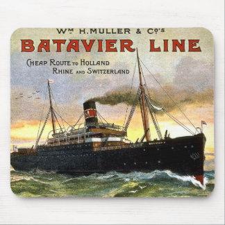 Batavier Line - Vintage Travel Mouse Pad