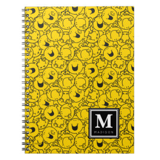 Batch of Yellow Smiles Pattern | Add Your Name Notebook
