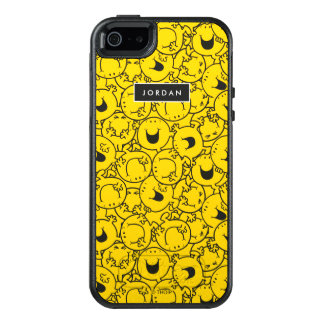 Batch of Yellow Smiles Pattern | Add Your Name OtterBox iPhone 5/5s/SE Case